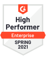 G2- High Performer Enterprise Spring 2021
