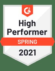 G2-High Performer Spring 2021