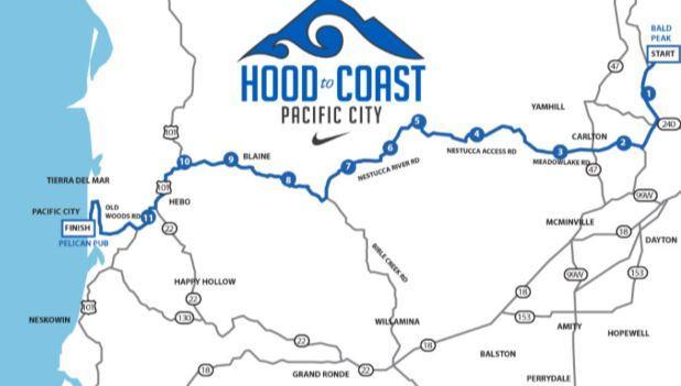 Hood to coast map