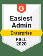 G2 Fall 2020 Easiest Admin
