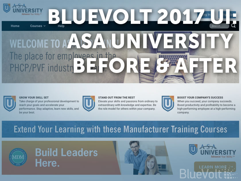 ASA University Before & After on the BlueVolt 2017 UI
