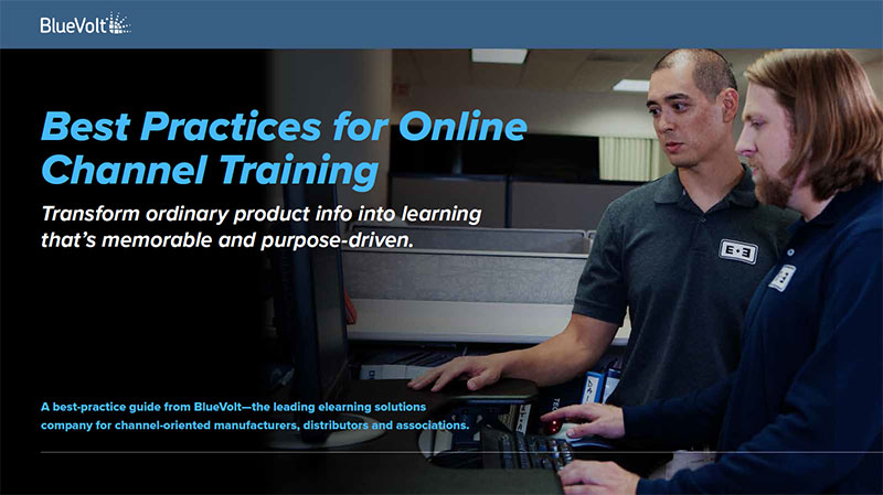 Best Practices for Online Channel Training distributor learners using computer for online training