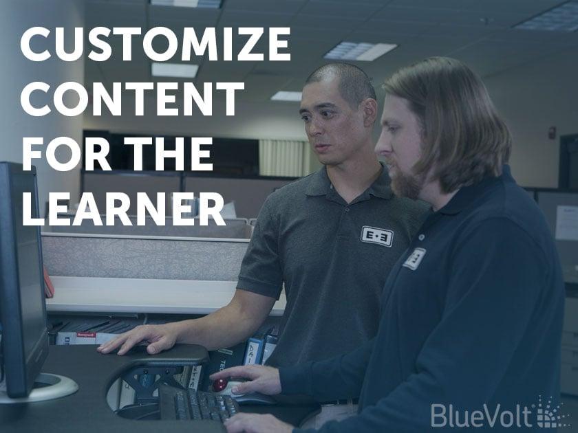 Personnalisez le contenu pour les étudiants eLearner sur votre ordinateur