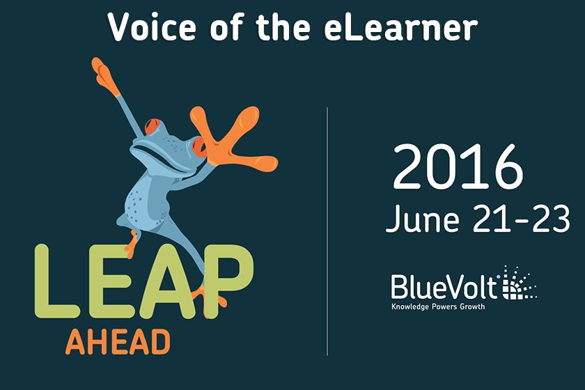 BlueVolt Leap Ahead Conference 2016 eLearning graphic