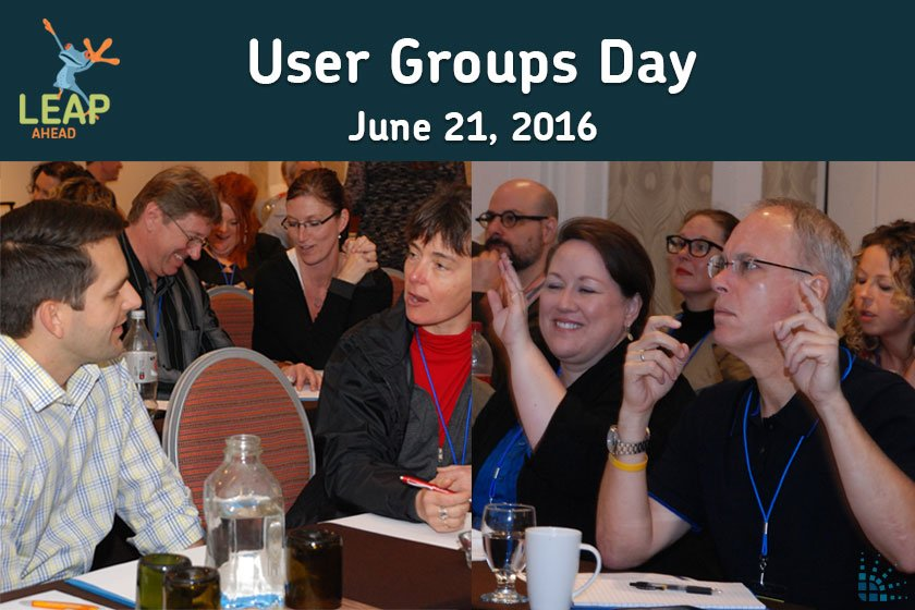 LEAP Ahead User Groups Day photos of attendees at BlueVolt