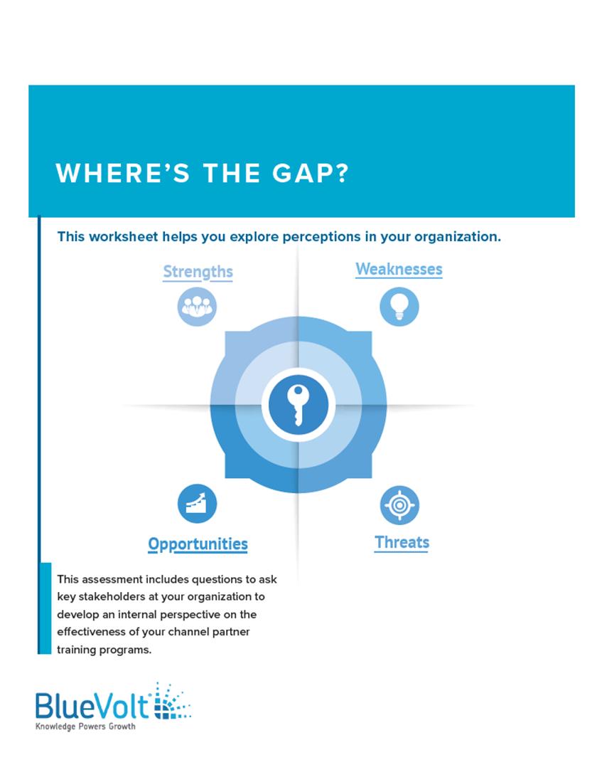 Where's the Gap? Channel Partner Training Program SWOT Analysis worksheet